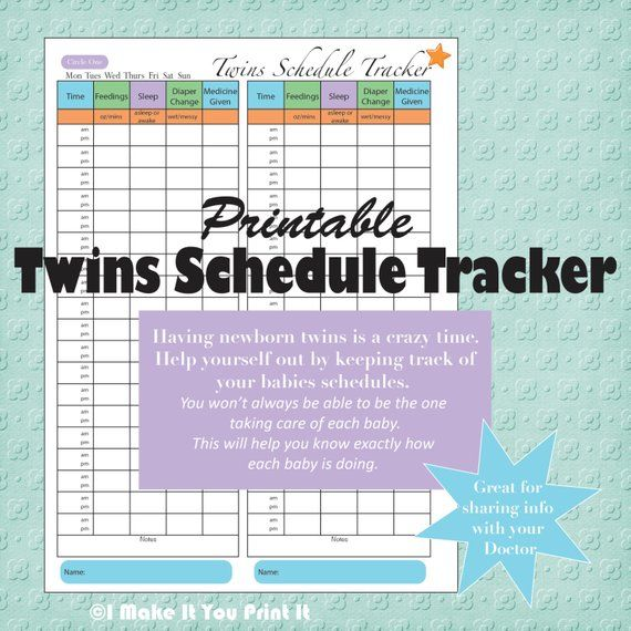 photo about Twins Printable Schedule identified as Printable Boy or girl Routine Tracker and Twins Plan Tracker