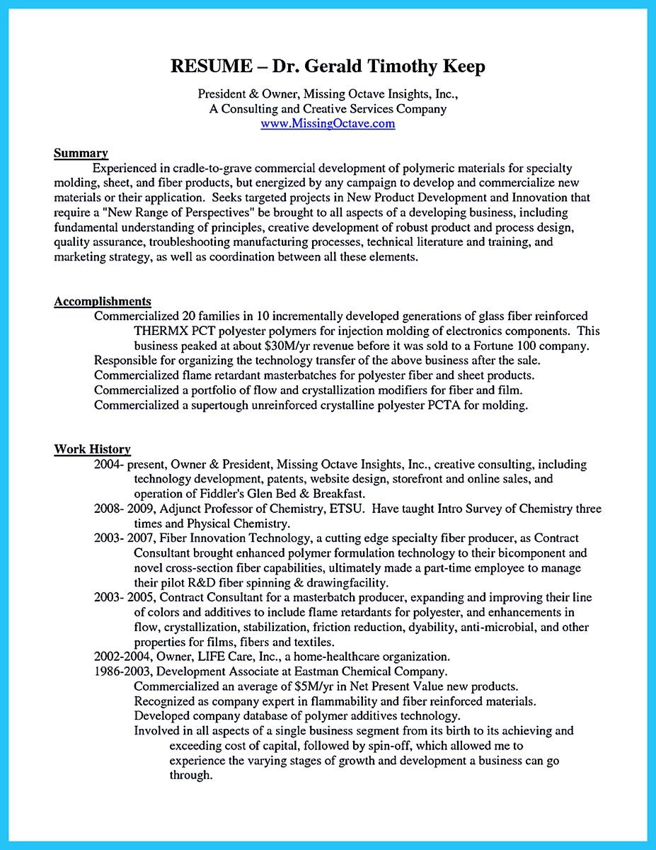 Business Resume Format When You Build Your Business Owner Resume You Should Include The