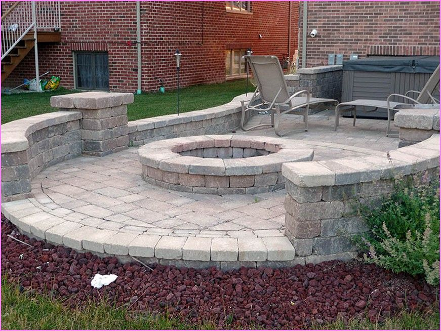 Patio Designs With Pavers | Brick Patio Ideas With Fire Pit | Home Design  Ideas