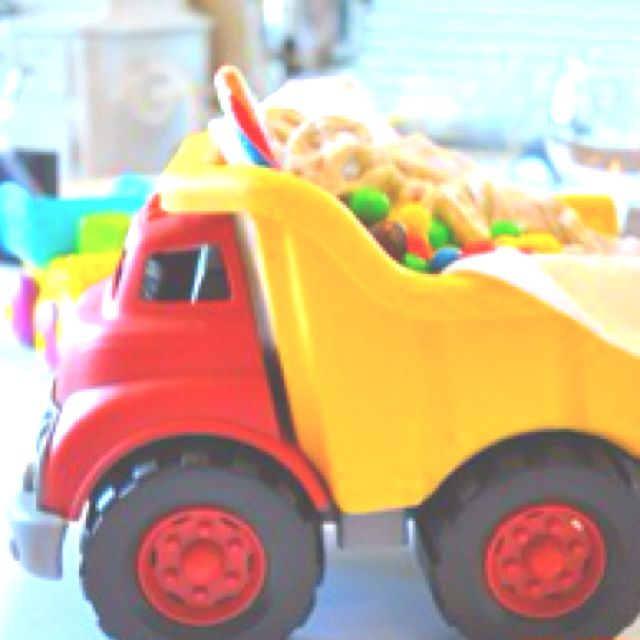 Candy truck!  (Fill w/fish crackers and pop, or cookies, or chips, or a favorite snack)