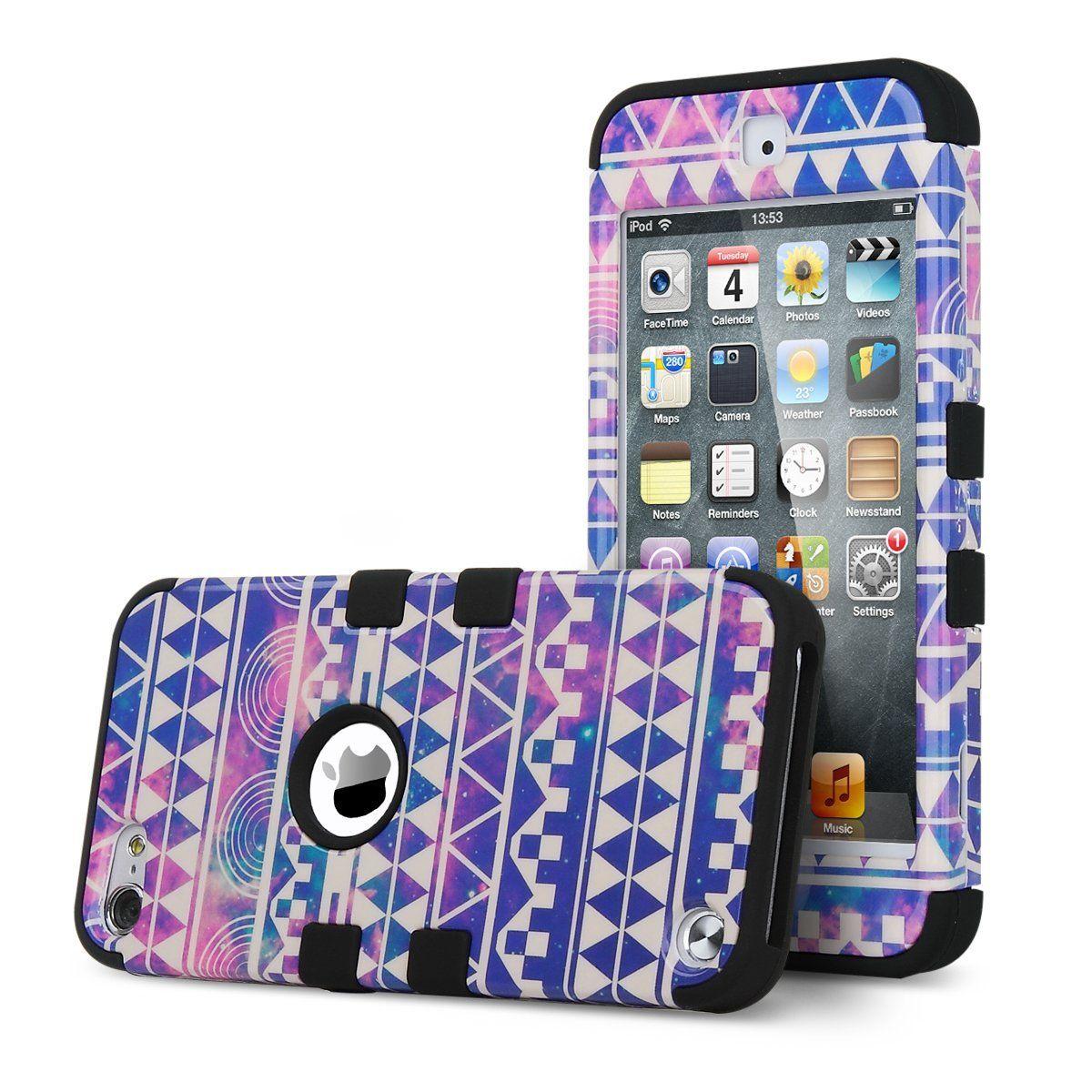 huge selection of ab5e2 8ce21 Amazon.com: ULAK iPod Touch 5 Case,iPod Touch 6 Case,Hybrid Hard ...