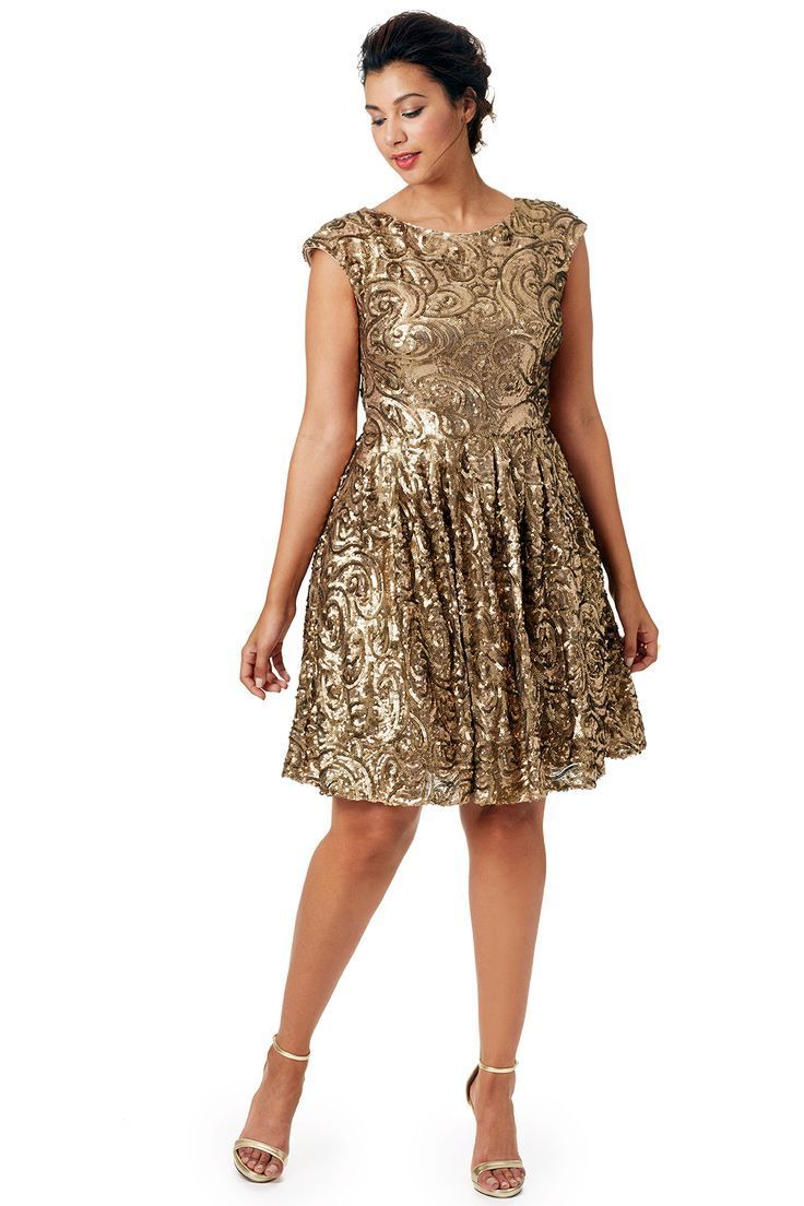 Nice Plus Size Dress Plus gold dress 12... Check more at http ...