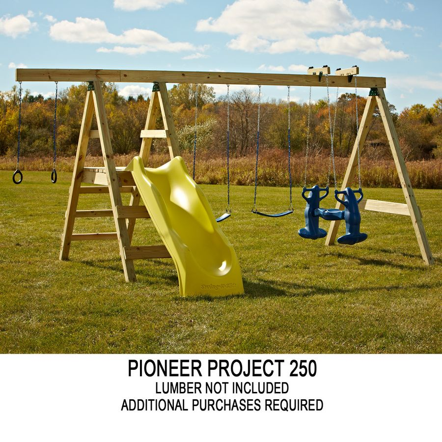 Shop Swing N Slide Pioneer Kit Residential Wood Playset With Swings