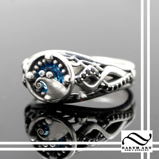 Nightmare Before Christmas Themed Engagement Ring Gothic Engagement Ring Nightmare Before Christmas Rings Christmas Engagement Rings