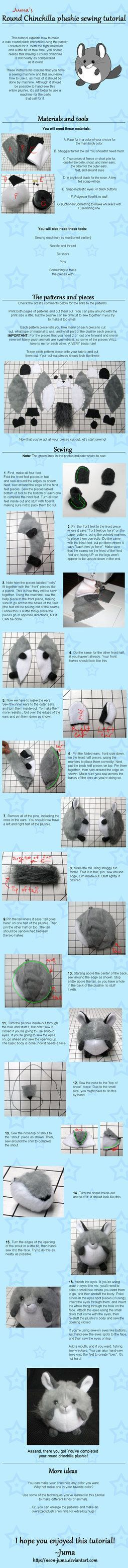 DIY Tutorial: How To Sew A Round Chinchilla Plushie Toy Sewing ...