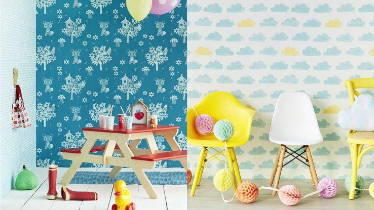 Wolkjes behang leuk voor milas kamer kinderkamers for Behang kamer