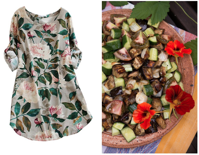 5e9e9dd000f3 Summer Floral Dresses   Salads to eat while wearing them – via The Forest  Feast