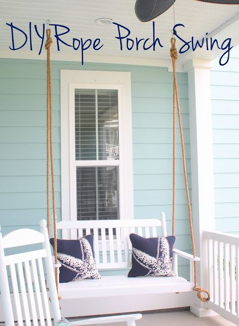 Diy Rope Porch Swing Put Together The Perfect Hanging Seat On