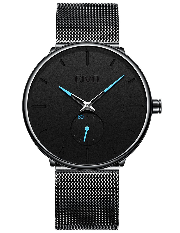 Reloj hombre malla negra