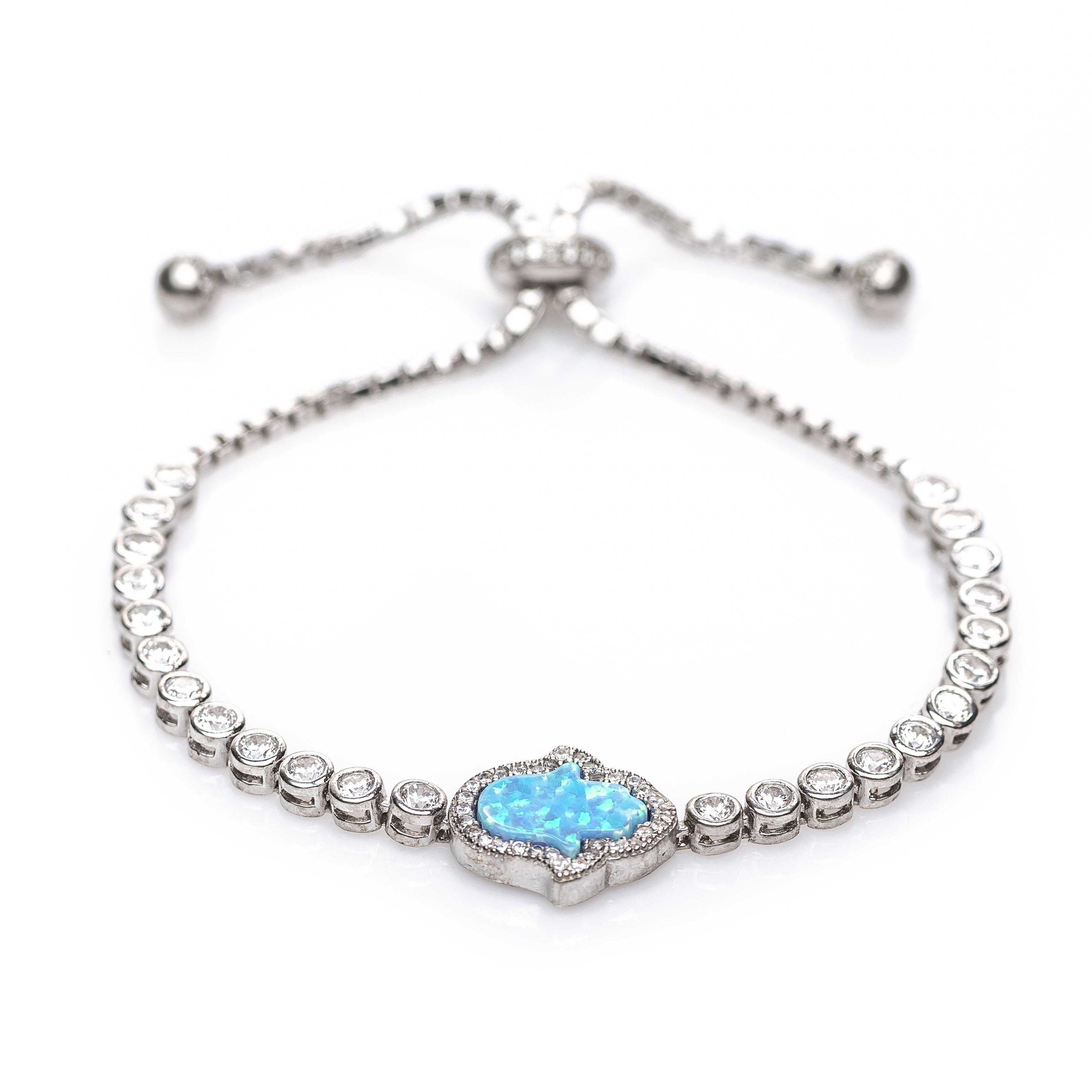 Hamsa Opal Bracelet