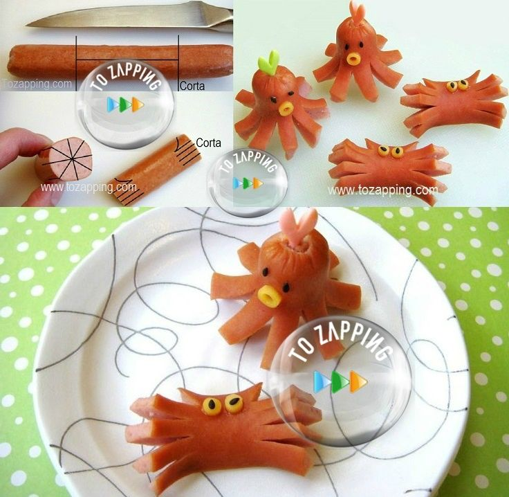 C mo hacer pulpos y cangrejos con salchichas tozapping for Como hacer una cena rapida