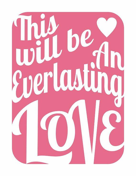This will be an everlasting love lyrics