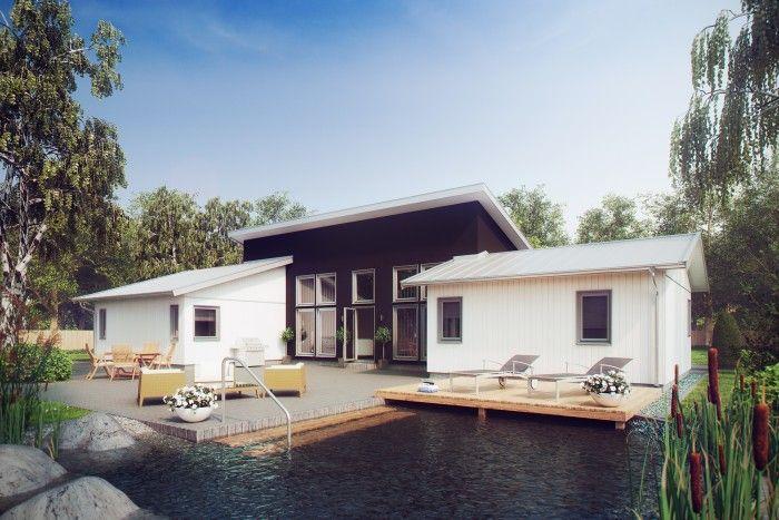 Grundriss wohnzimmer ~ Sandliden ist ein pultdachhaus mit einem symmetrischen grundriss