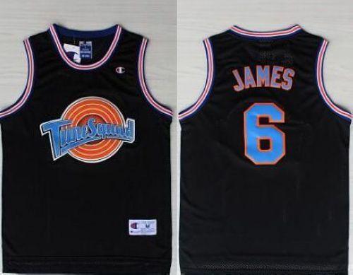 best service bafad 07b48 Space Jam Tune Squad #6 James Black Stitched Basketball ...