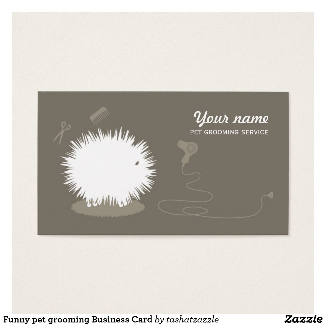 Funny pet grooming Business Card | Pet grooming and Funny pets