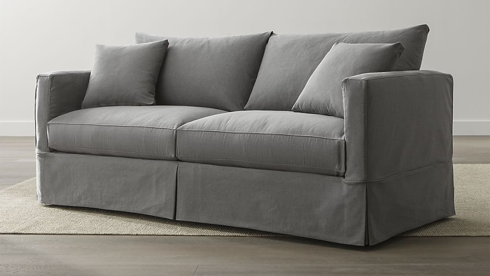 Willow Grey Slipcover Sofa Reviews Crate And Barrel Stylish
