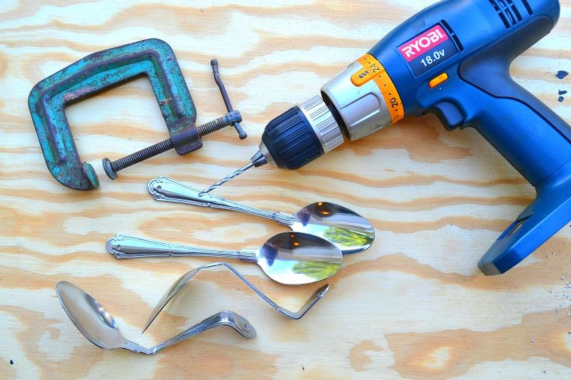 Bending Silverware For Crafts How To Make A Wine Rack