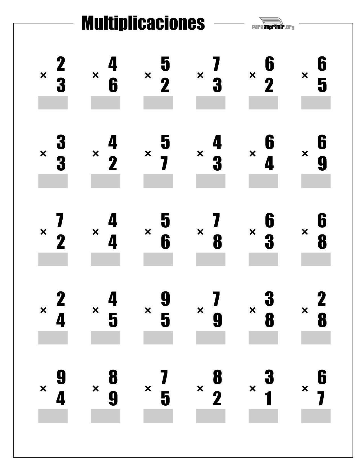 ejercicios de multiplicacion - Buscar con Google