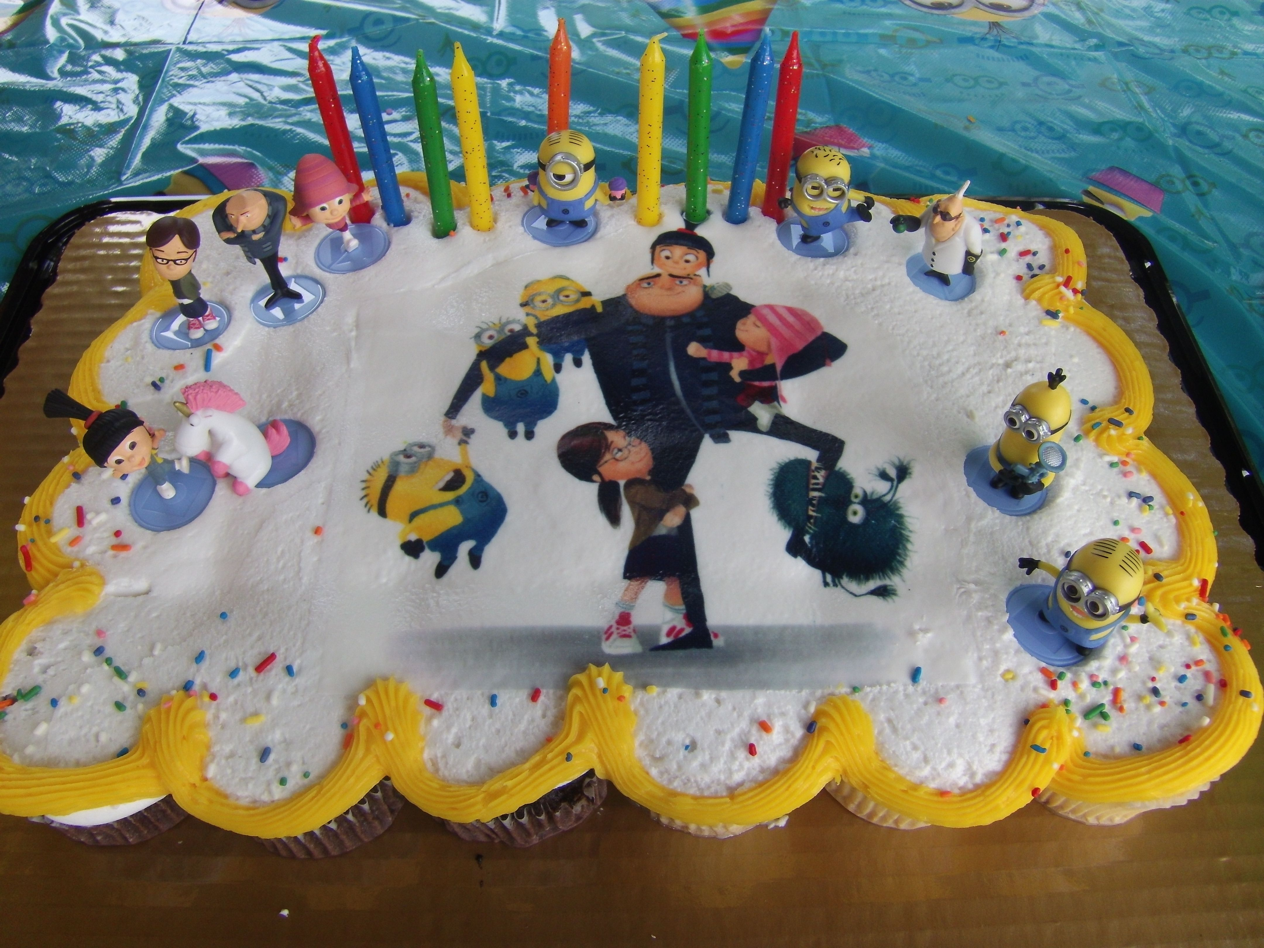Despicable Me Cupcake Cake Made By Krogers