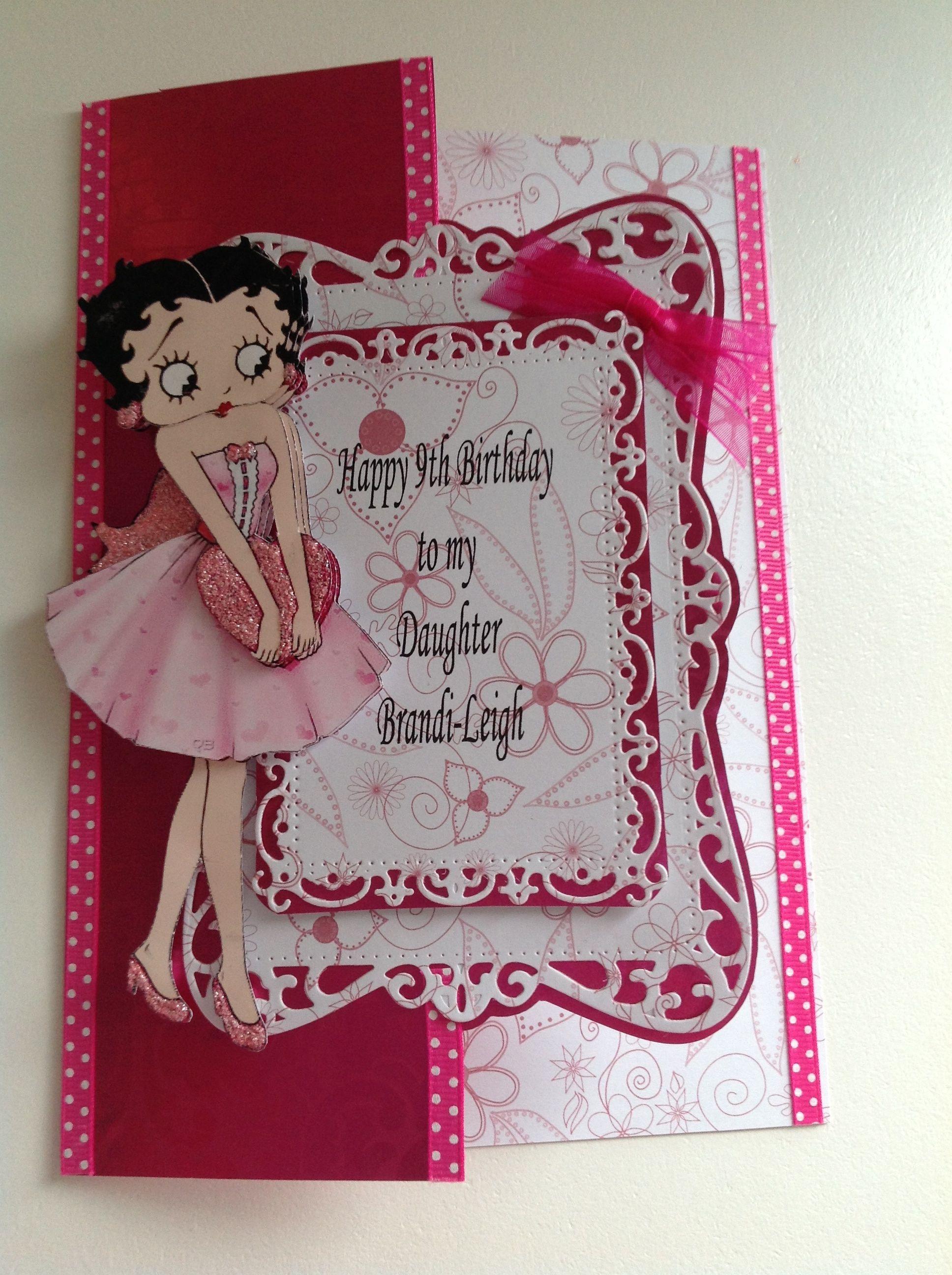 A Betty Boop Card X