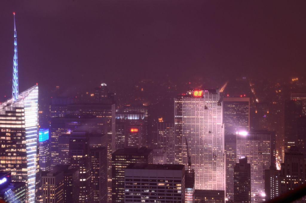 Photo Friday: New York Skyscrapers At Foggy Winter Night