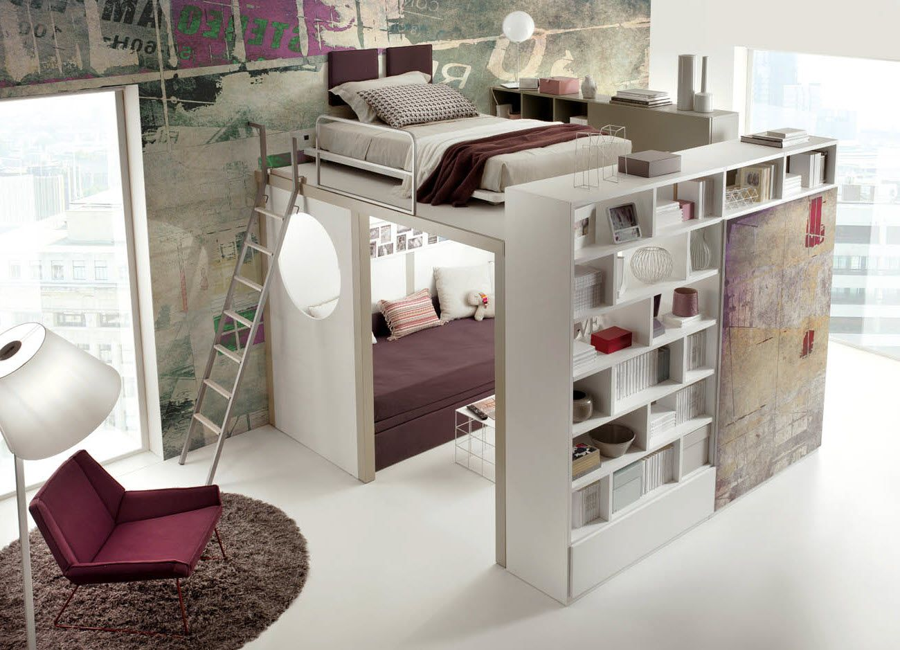 Mezzanine Chambre Lit Mezzanine Ado Art Decor En 2019 Bedroom Kids Bunk Beds