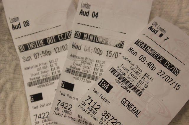Movie Tickets- July 2015