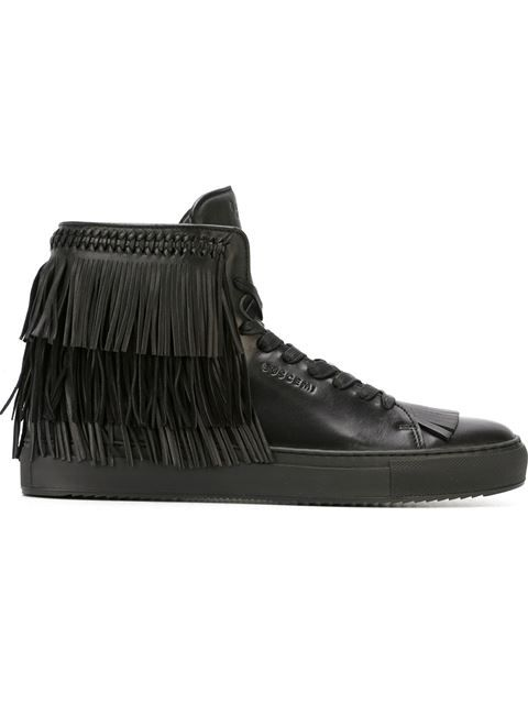 BUSCEMI Fringed Hi-Top Sneakers.  buscemi  shoes  sneakers ... 05846a847