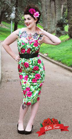 Vamp Dress in Cream Floral