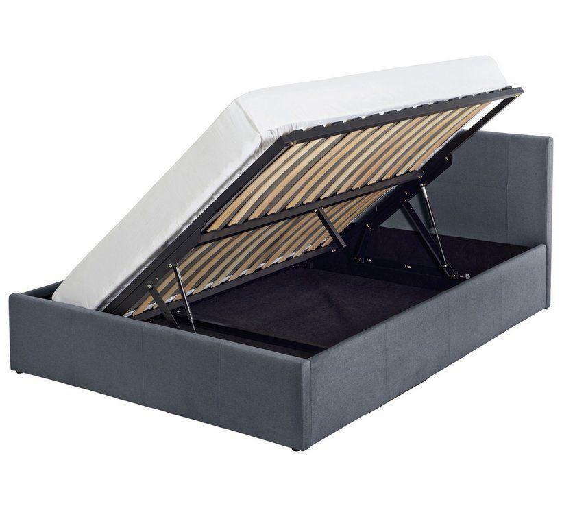 Amazing Home Heathdon Side Open Ottoman Small Double Bed Grey In Inzonedesignstudio Interior Chair Design Inzonedesignstudiocom