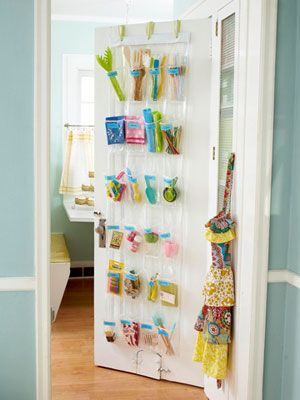 Plastic shoe organizer for kitchen gadgets