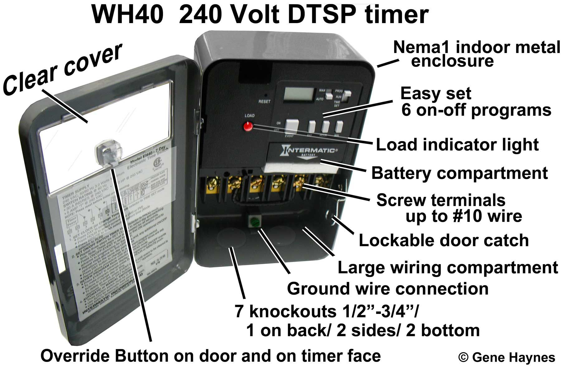 Eh40 30 Amp 7 Day Timer Http Waterheatertimer Org How To Wire Eh40 Hot Water Heater Timer Html Water Heater Diy Water Heater