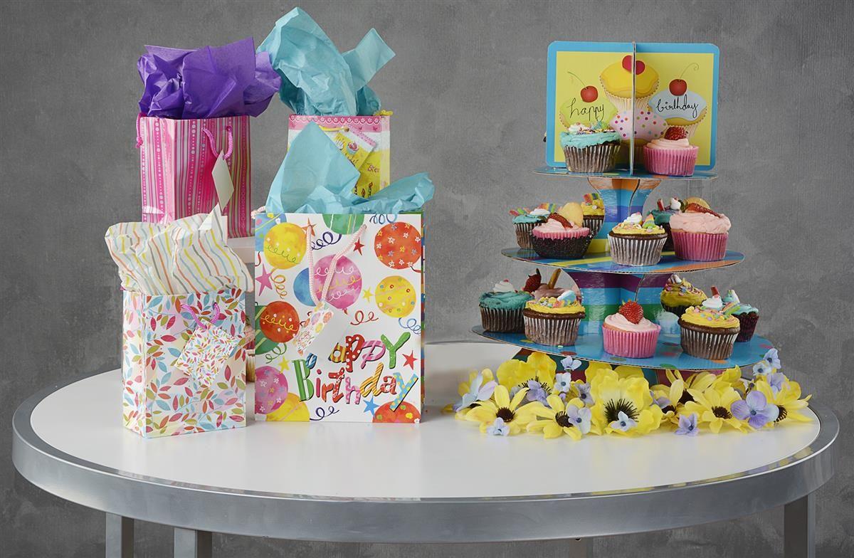 3tier round cupcake stand cardboard birthday theme