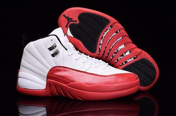 Authentic 2016 New Jordan Retro 12 XII Basketball Shoe Red White Black Bottom for Sale