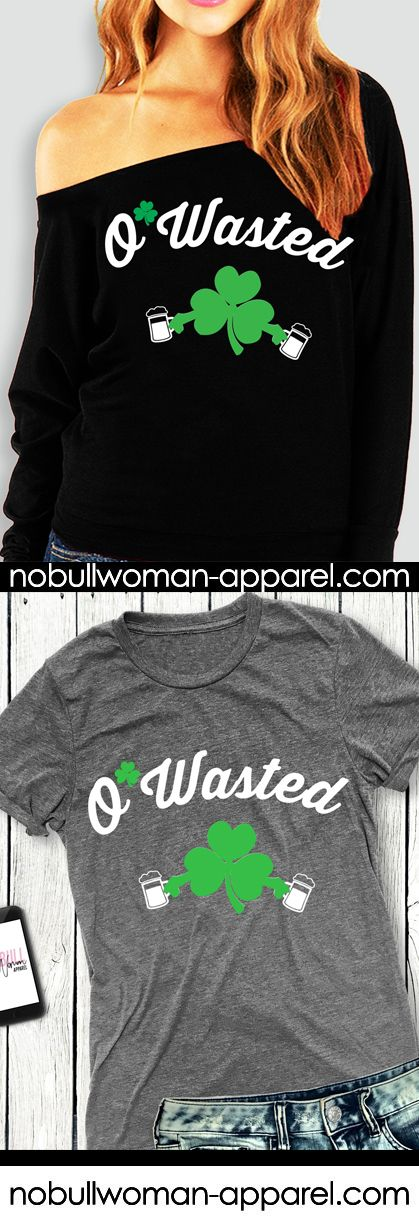 c9d2753be Available in Slouchy Off Shoulder Shirt or a TShirt. O'WASTED Shirts at www. NoBullWoman-Apparel.com