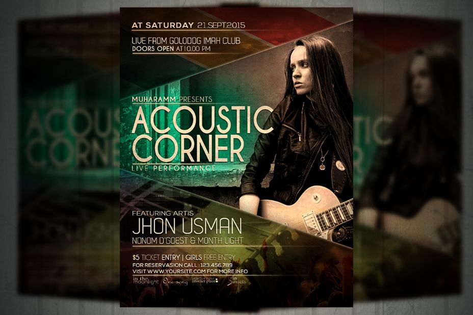 Band Flyer Template Psd For Event Concert And Live Music