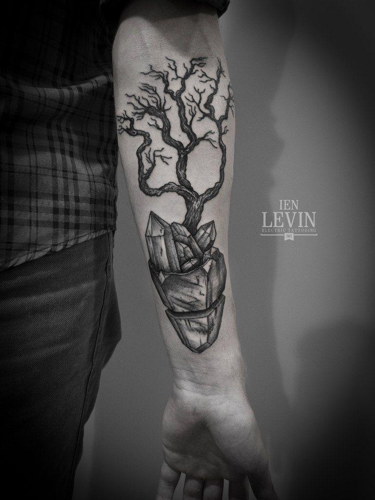 crystal tree tattoo Google Search Black ink tattoos