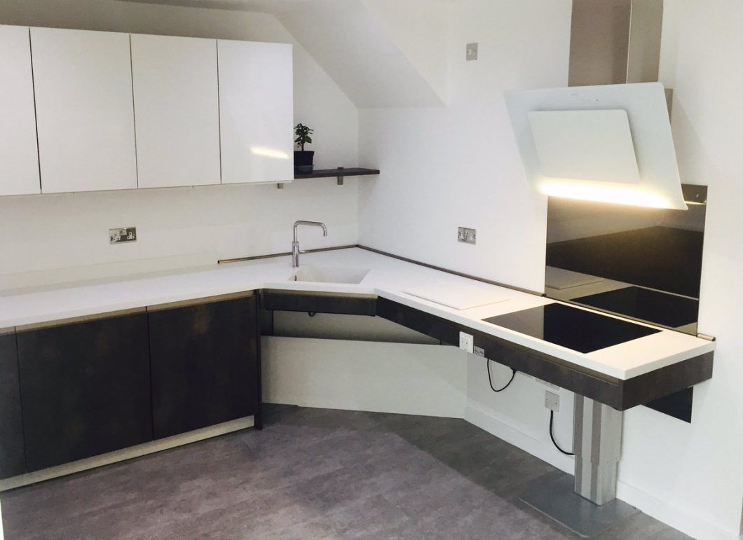 Ulmo Ltd Twitter Accessible Kitchen Completed Height Design Adjustable Worktops Lowering Wall Units Unique Kitchen Wall Units Wall Unit Wooden Worktop Kitchen