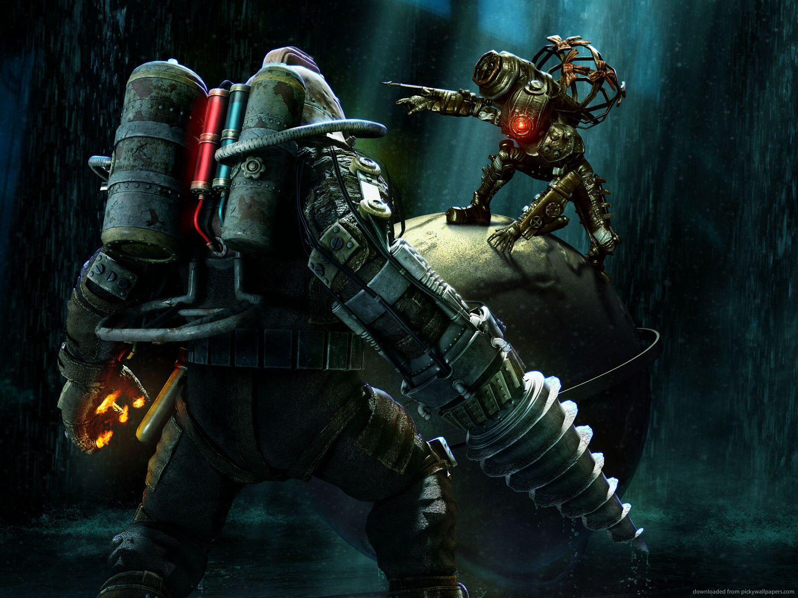 Big Daddy Vs Big Sister Bioshock Bioshock Rapture Bioshock Game