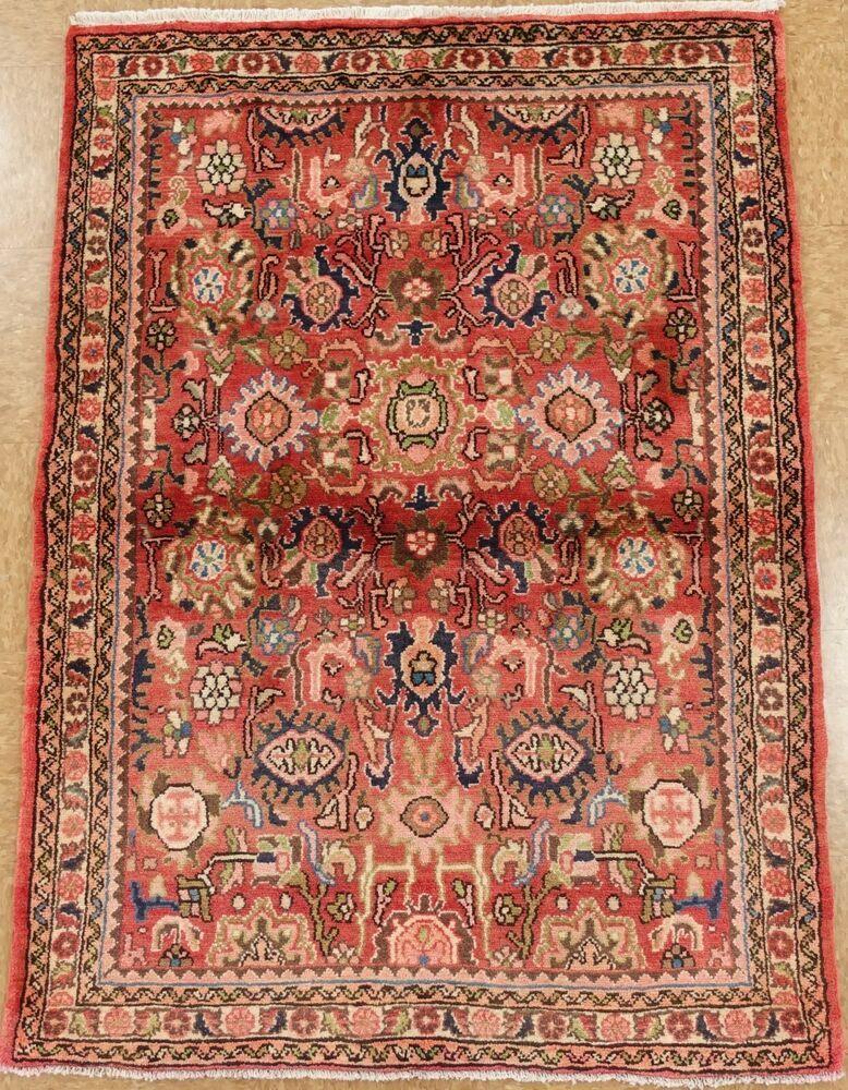 Nannaj Rug Tribal Hand Knotted Wool Coral Blue Oriental Carpet 3 8 X 5 1 Persiannannajtribalgeometric Tribal Rug Oriental Carpets Rugs