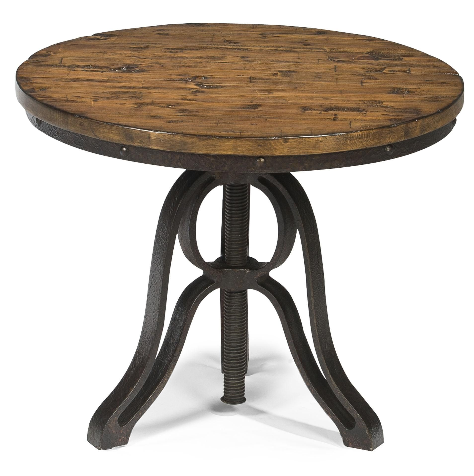 Large Round End Table With Storage Round End Tables Wooden