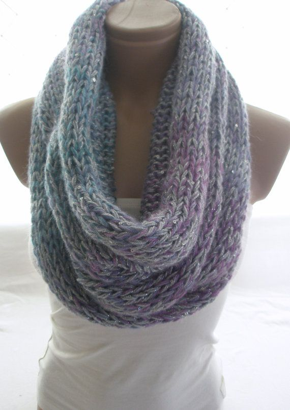 Hand Knitted Multicolor Hooded Cowl / Neck warmer by Arzus ...
