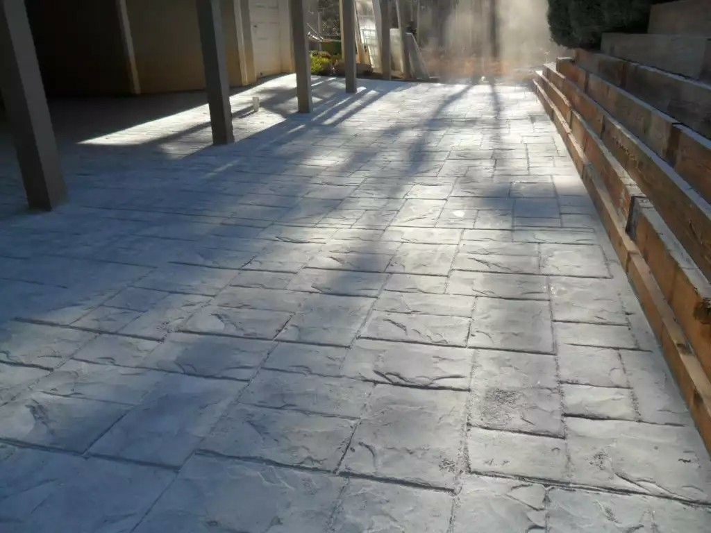 Stamped Concrete No Color No Seal Concrete Floors Stamped Concrete Patio