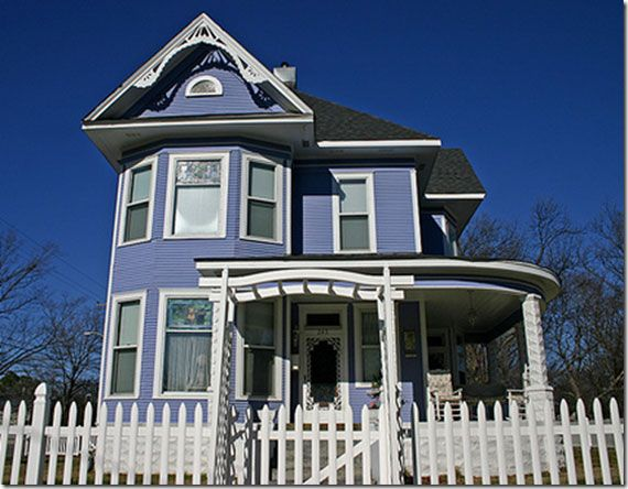 Blue Victorian House Design Color Schemes Of Exterior