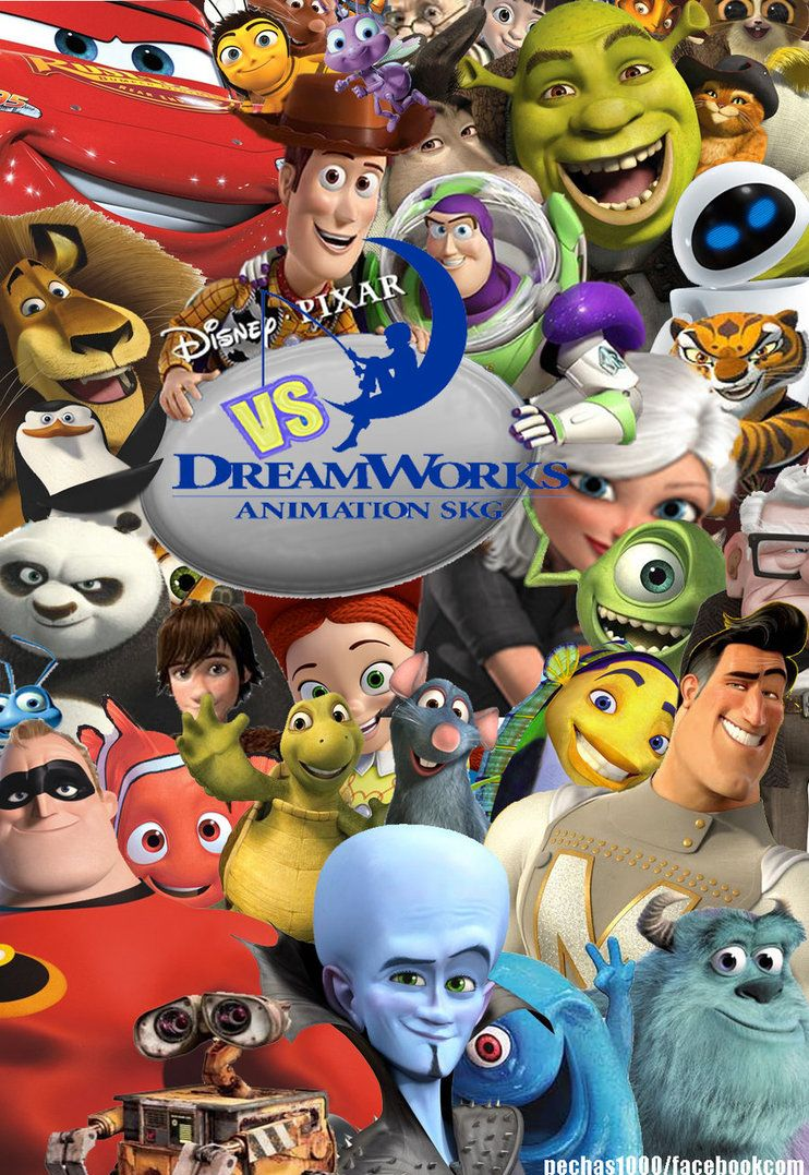 disney pixar dreamworks : Dreamworks vs pixar by pechas ...