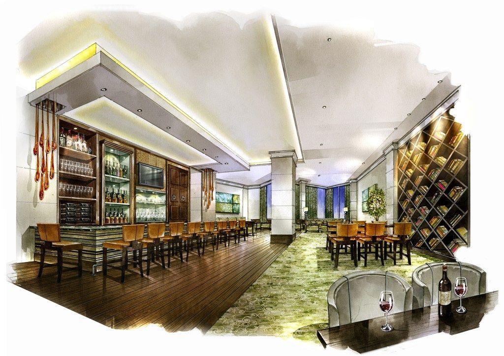 Jw marriott restaurant and bar renovations rendering 2011 - Interior design schools in atlanta ...