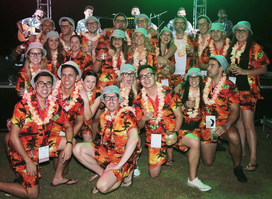 Crew from Coco-Cola NZ on a staff trip to Fiji. Looked amazing in our Cabana Sets. Matching Hawaiian Shirts & Board Shorts. http://islandstyleclothing.com.au/
