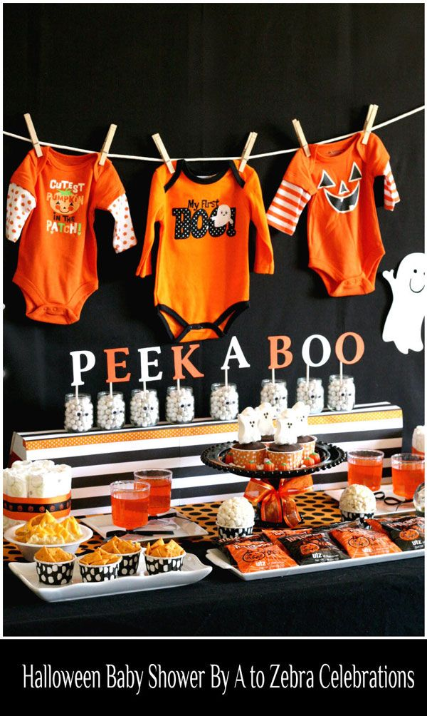Halloween Baby Shower Ideas Decorations.Peekaboo 5 Babyshower Halloween Halloween Ideas In