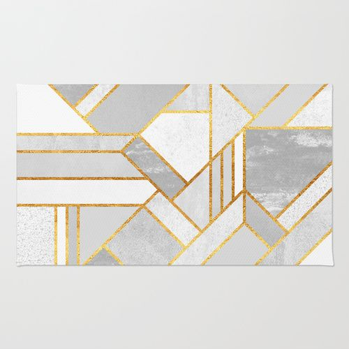 Gold City Area Amp Throw Rug Home Textiles Geometric
