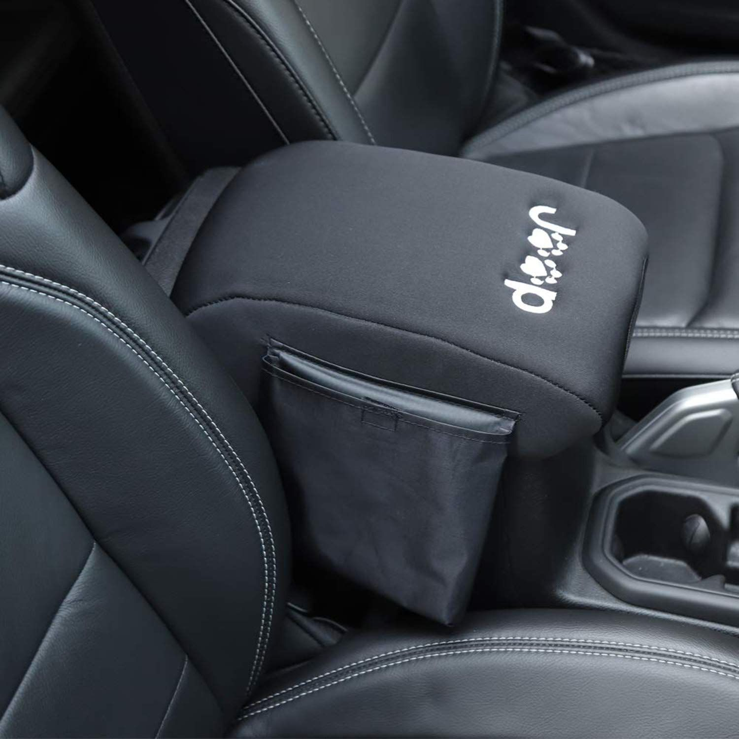 YOUAN Center Console Armrest Pad Cover with Storage Bag